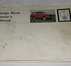 Instruktionsbok Range ROVER