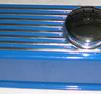 Ventilkåpa Aluminium blå