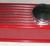 Ventilkåpa Aluminium Röd